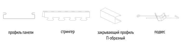 Конструкции для реечного потолка в ванную комнату