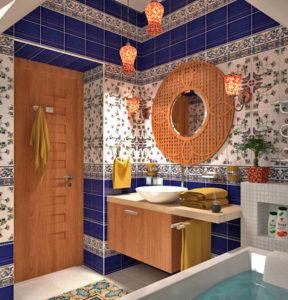 этно стиль ванная