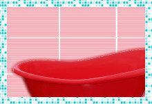 Как смотрится красная ванна из акрила в интерьере?