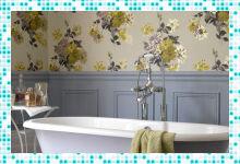 Отделка ванной комнаты моющимися обоями: экономия не в ущерб красоте и качеству
