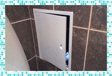 Правила выбора ревизионного люка для ванной под плитку