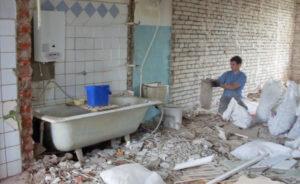снос стен ванной
