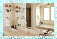 Дизайн в стиле «Прованс» в ванной комнате