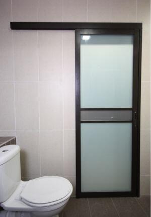 стеклянная раздвижная дверь ванная