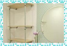 Разнообразие стеллажей для ванной комнаты