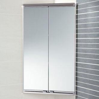Угловой зеркальный шкафчик