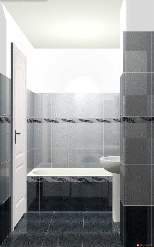 Дизайн проект маленькой ванной вид сбоку