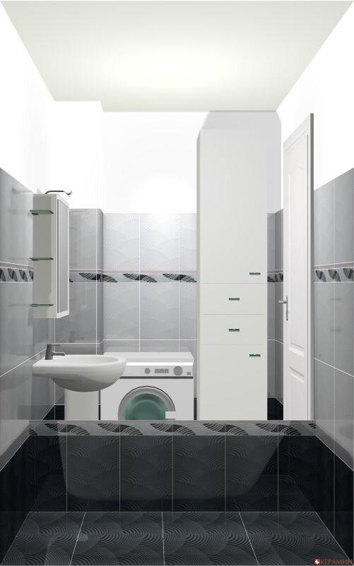 Дизайн проект маленькой ванной вид ванны