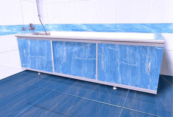 Экран ванна с раздвижными дверцами