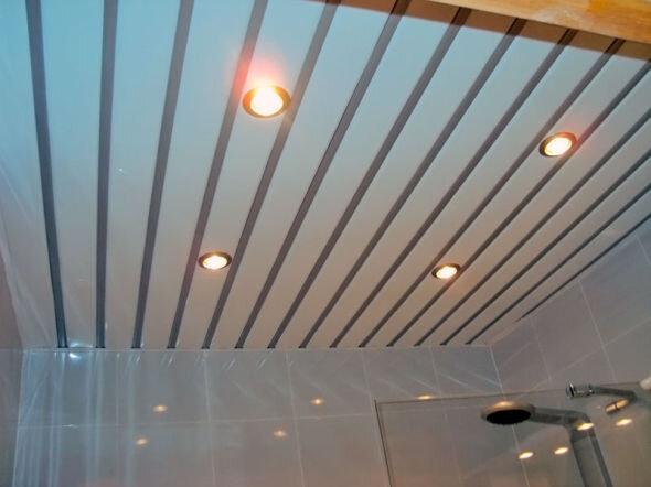 Металлический реечный потолок