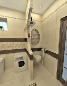 перегородка в ваннной 2