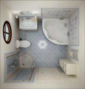 компановка маленькая ванная комната