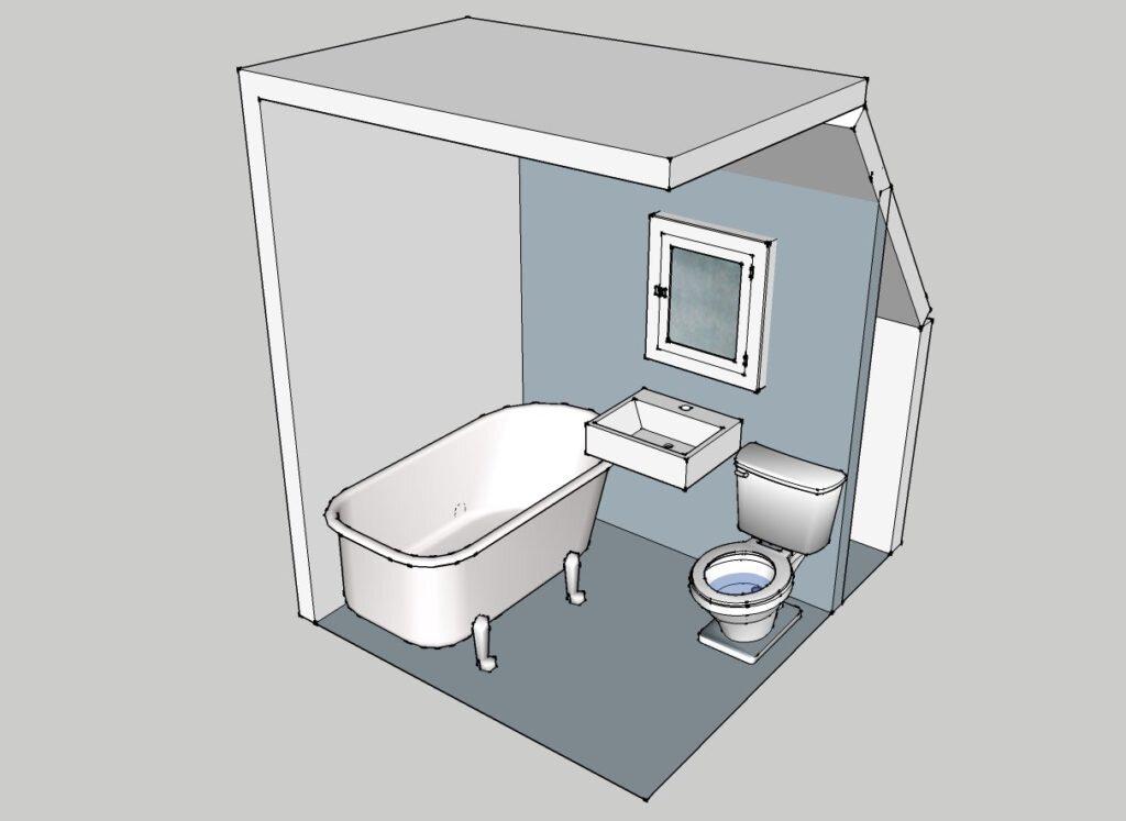 проект ванная sketchup