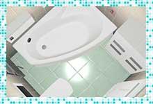 Проект ванной комнаты 2,7 квадратных метра