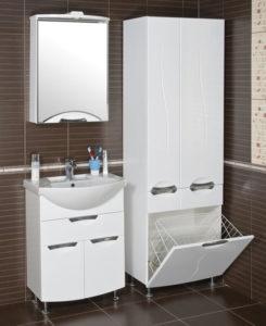колонка для ванной комнаты грязное белье